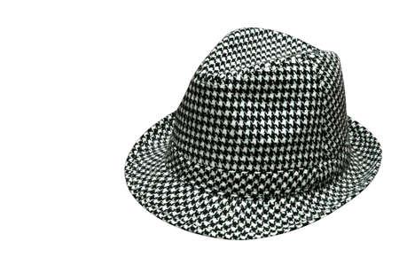 千鳥格子帽子 写真素材