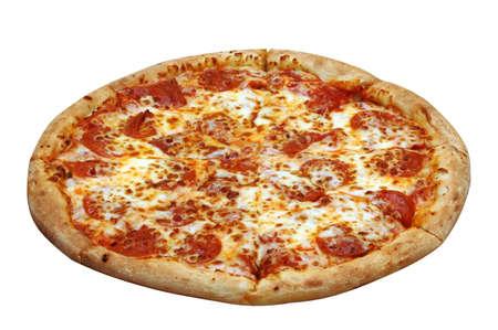 ペパロニのピザ 写真素材