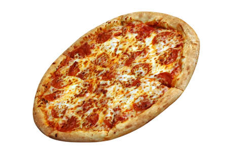 Pepperoni pizza with clipping path Zdjęcie Seryjne