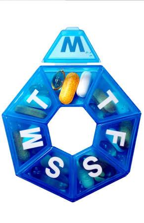 Pill box with clipping path Zdjęcie Seryjne