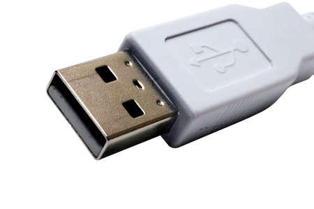 usb kabel: USB-Kabel mit Clipping-Pfad