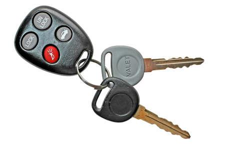 Car keys with clipping path Zdjęcie Seryjne
