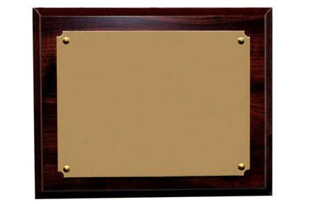 Blank plaque Stock Photo - 951471