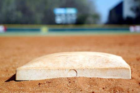Second Base on Baseball Diamond Zdjęcie Seryjne