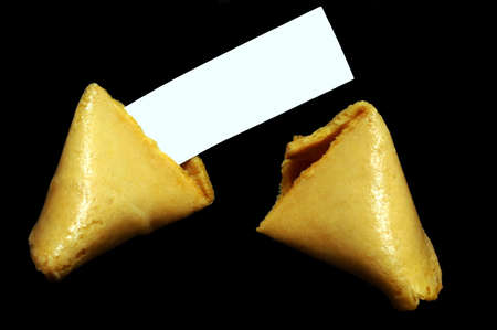 fortune cookie: Fortune Cookie with Blank Paper
