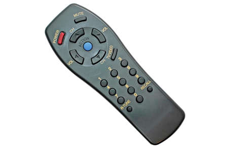 tv remote: TV Remote Control with Clipping Path Stock Photo