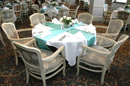 Formal dining room in restaurant. Foto de archivo
