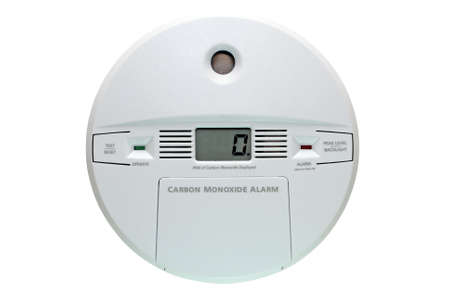 Carbon monoxide alarm isolated on white background  写真素材