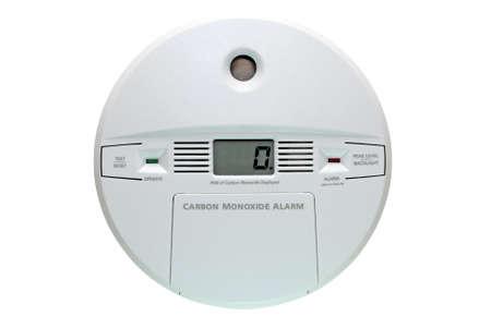 Carbon monoxide alarm isolated on white background  Zdjęcie Seryjne