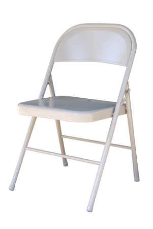 Metal folding chair  Banco de Imagens