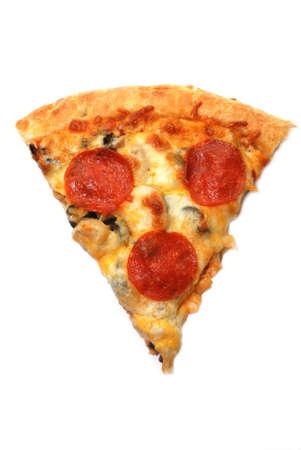 白い背景で隔離ペパロニのピザのスライス。 写真素材 - 2307901