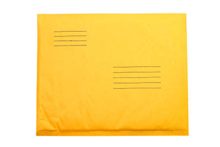 Manila envelope isolated on white background with clipping path.