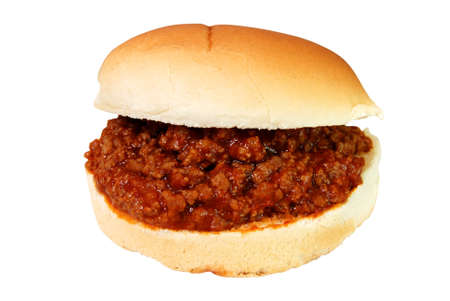 Sloppy joe burger isolated on white background with clipping path. Zdjęcie Seryjne - 2737535