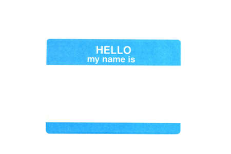 Name tag isolated on white background with clipping path.