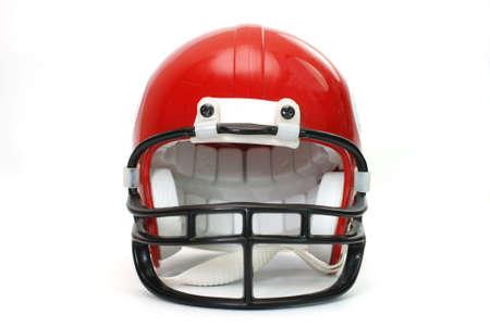 白い背景で隔離赤いフットボール ヘルメット。 写真素材 - 3393951