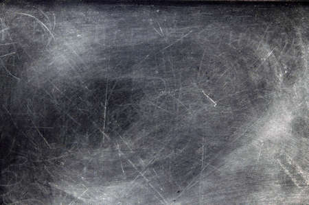 Black chalkboard with chalk dust with copy space.