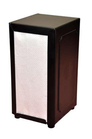 Napkin holder isolated on white background