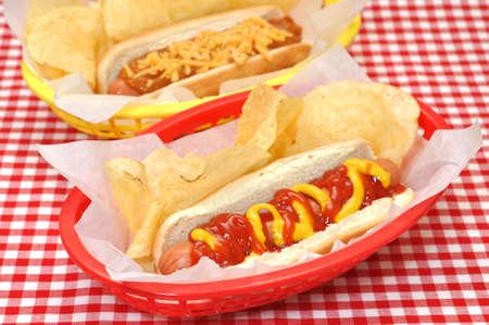 Hot Dog, Chili Cheese, Potato Chips photo