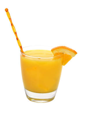Screwdriver with Orange Wedge Isolated