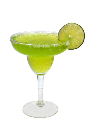 frozen fruit: Frozen margarita with Lime Isolated