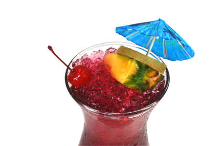Hurricane Tropical Drink Isolated photo