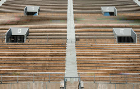 exits: Empty Sports Stadium with Exits Stock Photo