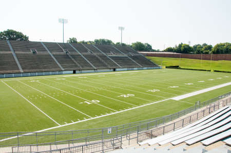 High school football stadium showing entire field. photo