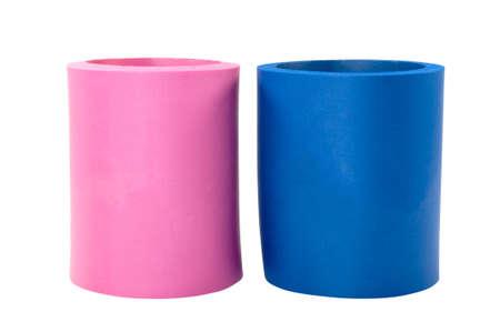 holders: Two koozie drink holders