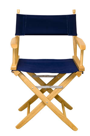 filmmaker: Directors chair isolated on white background with clipping path.