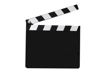 Blank film duig op een witte achtergrond met het knippen weg.