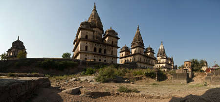 cenotafios de Orchha Stock Photo