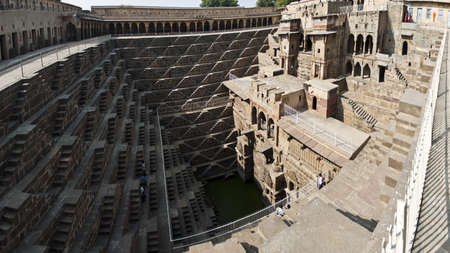 abhaneri: Abhaneri, Chand Bawri, Step Well  Jaipur