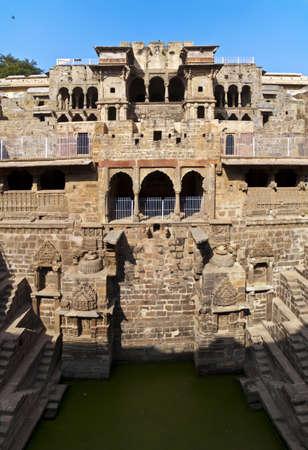 step well: Abhaneri, Chand Bawri, Step Well  Jaipur