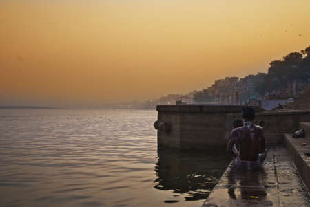Ghats de Varanasi Stock Photo