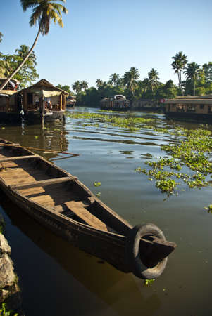 Allapey Backwaters Stock Photo