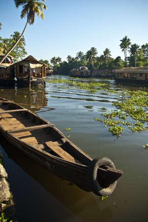 backwaters: Allapey Backwaters Stock Photo