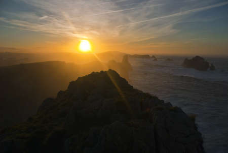 cantabria: sunset in cantabria Stock Photo