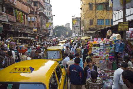 agglomeration: calle de calcuta Editorial