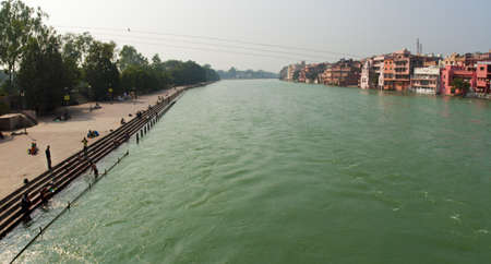 ganges en haridwar Stock Photo