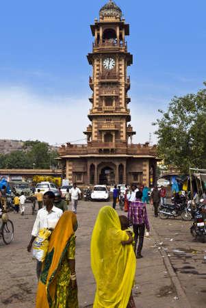 jodhpur, plaza del reloj Stock Photo - 13413693