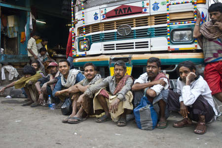 People in Calcuta Editorial