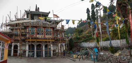 Temple in Darjeeling Stock Photo
