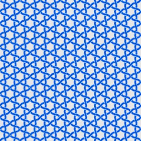 Vector design of interlaced lines to be used as a pattern, in blue, easy to change color. Ilustração
