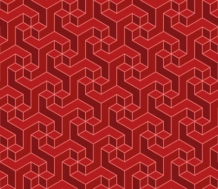 Vector design of geometric pattern with three-dimensional shape, three-dimensional effect pattern for textile