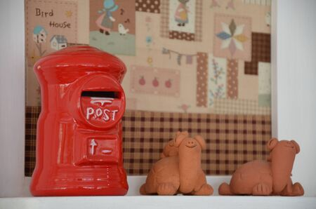 earthenware: Ceramic Postbox and Turtles Earthenware