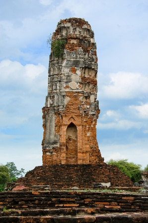 Ancient Pagoda in Ayutthaya Temple,Thailand  photo