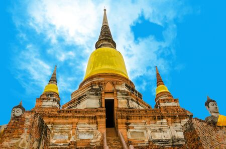 Pagoda at Wat Chaiwattanaram Temple, Ayutthaya, Thailand  photo