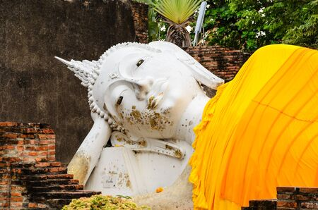 Reclining Buddha Statue in Ayutthaya, Thailand  Stock Photo - 13288391