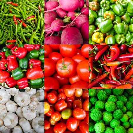 Set of Vegetable Raw Material photo