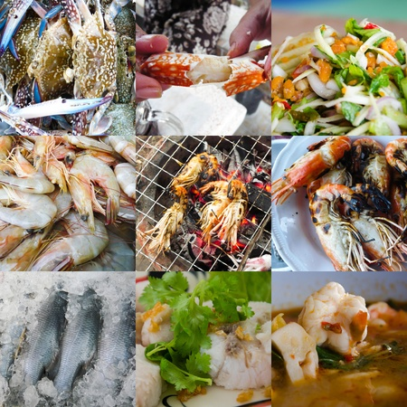 Set of Seafood photo